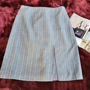 Banana Republic Casual Skirt Pencil Wool Gray Sz 4